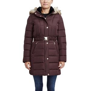 Laundry by Design NWT Wine Puffer Coat Large